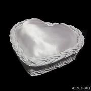 BÍLÝ košíček na svatební prstýnky + polštářek