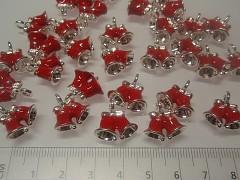 Přívěšky zvonečky červené vánoce