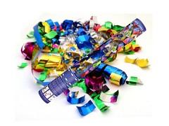 Pestrobarevné vystřelovací konfety proužky tuba