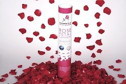 BORDÓ vystřelovací konfety plátky růží tuba