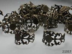 Prstýnkový základ 17/8 filigránový L=8 bronz