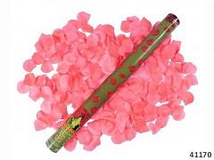 RŮŽOVÉ vystřelovací konfety plátky růží tuba