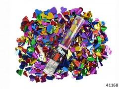 Pestrobarevné vystřelovací konfety srdíčka / puntíky  tuba