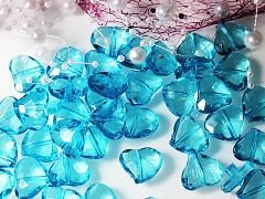 TYRKYSOVÉ kamínky k dekoraci velká srdíčka, bal. 10ks
