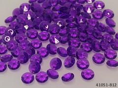 FIALOVÉ TMAVĚ diamanty kamínky svatební, á 1ks