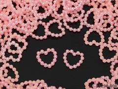 RŮŽOVÉ perleťové kamínky srdíčka k dekoraci