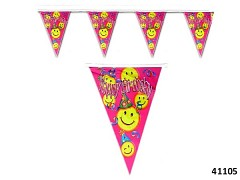 Karnevalová narozeninová girlanda HAPPY BIRTHDAY