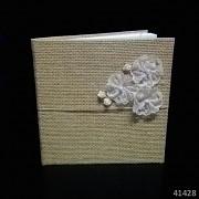 JUTOVÁ svatební kniha hostů s květy luxusní design