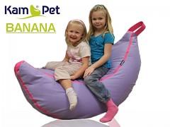 Fialový /cyklám sedací vak Banán RINS sedací vak pro děti voděodolný