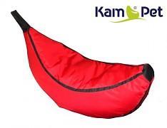 Červený sedací vak pro děti Banán Comfort ekokůže