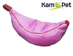 Růžový sedací vak pro děti Banán RINS voděodolný