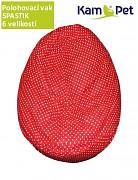 Červený puntíkovaný polohovací vak spastik BAVLNĚNÝ KamPet Classic