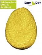 Žlutý puntíkovaný polohovací vak spastik BAVLNĚNÝ KamPet Classic