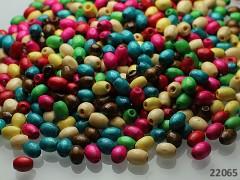 Pestrobarevný MIX korálky dřevěné 6mm bal. 7g ± 160ks