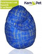 Modro - žlutý polohovací vak spastik BAVLNĚNÝ KamPet Classic