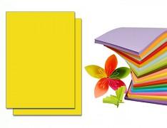 ŽLUTÝ papír SYTÝ barevný A4