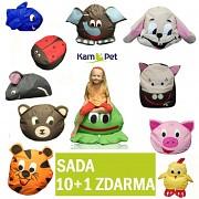 SADA ZOO sedací vaky pro děti zvířátko KamPet 10 + 1 ZDARMA