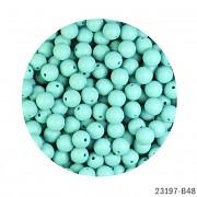 ZELENÉ MINTOVÉ silikonové korálky 9mm kuličky ze silikonu