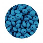 TYRKYSOVÉ silikonové korálky 9mm rondelky ze silikonu