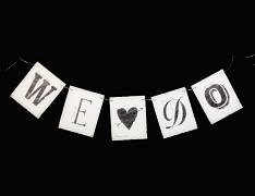 Svatební girlanda WE & DO juta