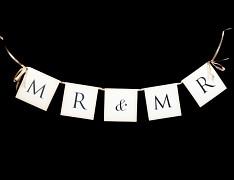 Svatební girlanda MR & MR