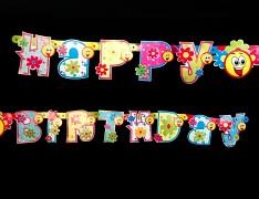 Velká karnevalová narozeninová girlanda HAPPY BIRTHDAY
