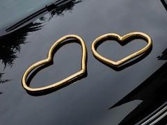 ZLATÉ SRDCE svatební dekorace na auto, dveře aj.