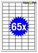 Samolepící etikety A4 - 65ks - štítky do tiskárny