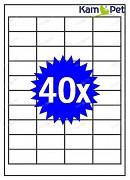 Samolepící etikety A4 - 40ks - štítky do tiskárny