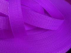 Popruh polypropylénový šíře 25mm SVĚTLE FIALOVÝ, á 1m
