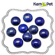 Modrý lapis lazuli přírodní kabošon 10mm pecičky do náušnic