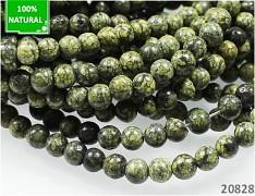 ZELENÝ krajkový kámen kuličky 4mm přírodní minerál