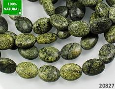 ZELENÝ krajkový kámen oválky 18mm přírodní minerál
