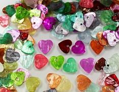 Pestrobarevná PERLEŤ srdce srdíčka přírodní minerál