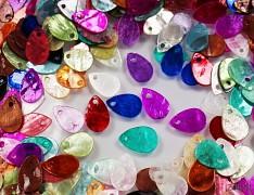 Pestrobarevná PERLEŤ kapky přírodní minerál