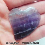 Fialový Ametyst VELKÝ přívěšek srdce na náhrdelník luxusní minerální kámen