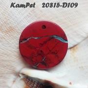 Brekciový jaspis přívěšek na náhrdelník minerální kámen brekcie