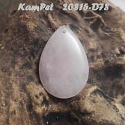 RŮŽENÍN přívěšek KAPKA na náhrdelník minerální kámen