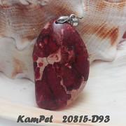 BORDÓ Oceánový jaspis Variscit OBŘÍ přívěšek na náhrdelník minerální kámen