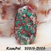 Oceánový jaspis Variscit OBŘÍ přívěšek na náhrdelník minerální kámen