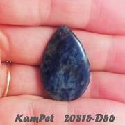 Modrý SODALIT kapka přívěšek na náhrdelník minerální kámen