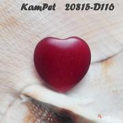 Červené srdce Jadeit přívěšek/korálek na náhrdelník minerální kámen