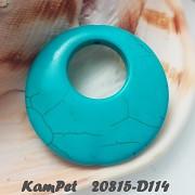 Tyrkenit kruh přívěšek na náhrdelník barvený howlit