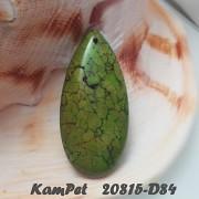 ZELENÝ Tyrkenit přívěšek KAPKA na náhrdelník barvený howlit