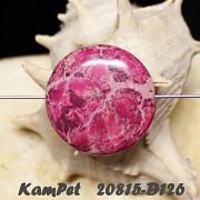 Růžový cyklám Oceánový jaspis Variscit kámen na náhrdelník minerál