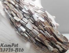 KRÉMOVÁ PERLEŤ kostičky dlouhé přírodní minerál