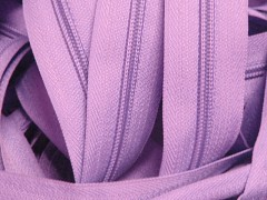 Fialový světlý zip nekonečný zipová páska metráž zipu