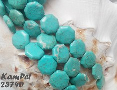 Tyrkenit maxi oktagon barvený howlit přírodní