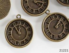 Vintage přívěšek bronzový HODINY