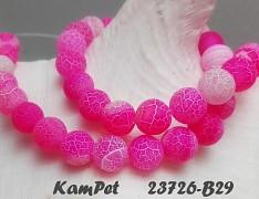 Růžový neon achát dračí kuličky 10mm přírodní minerál AA kvalita